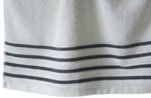 Lot de 2 Draps de Bain 100% Coton - 550 gr/m2 - Blanc Gris