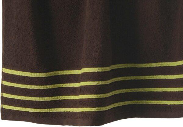 Lot de 2 Draps de Bain 100% Coton - 550 gr/m2 - Choco Anis