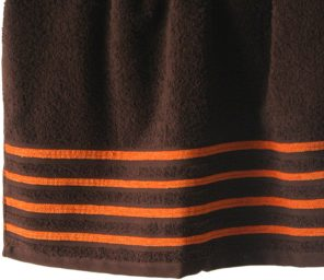 Lot de 2 Draps de Bain 100% Coton - 550 gr/m2 - Choco Orange