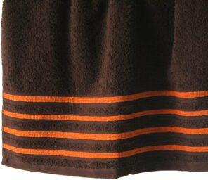 Lot de 2 Draps de Bain 100% Coton - 550 gr/m2 - Choco Orange