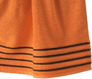 Lot de 2 Draps de Bain 100% Coton - 550 gr/m2 - Orange Choco