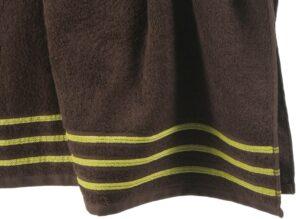 Lot de 2 Serviettes de Toilette 100% Coton - 550 gr/m2 - Choco Anis