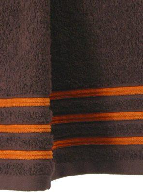 Lot de 2 Serviettes de Toilette 100% Coton - 550 gr/m2 - Choco Orange