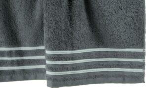 Lot de 2 Serviettes de Toilette 100% Coton - 550 gr/m2 - Fuschia Blanc