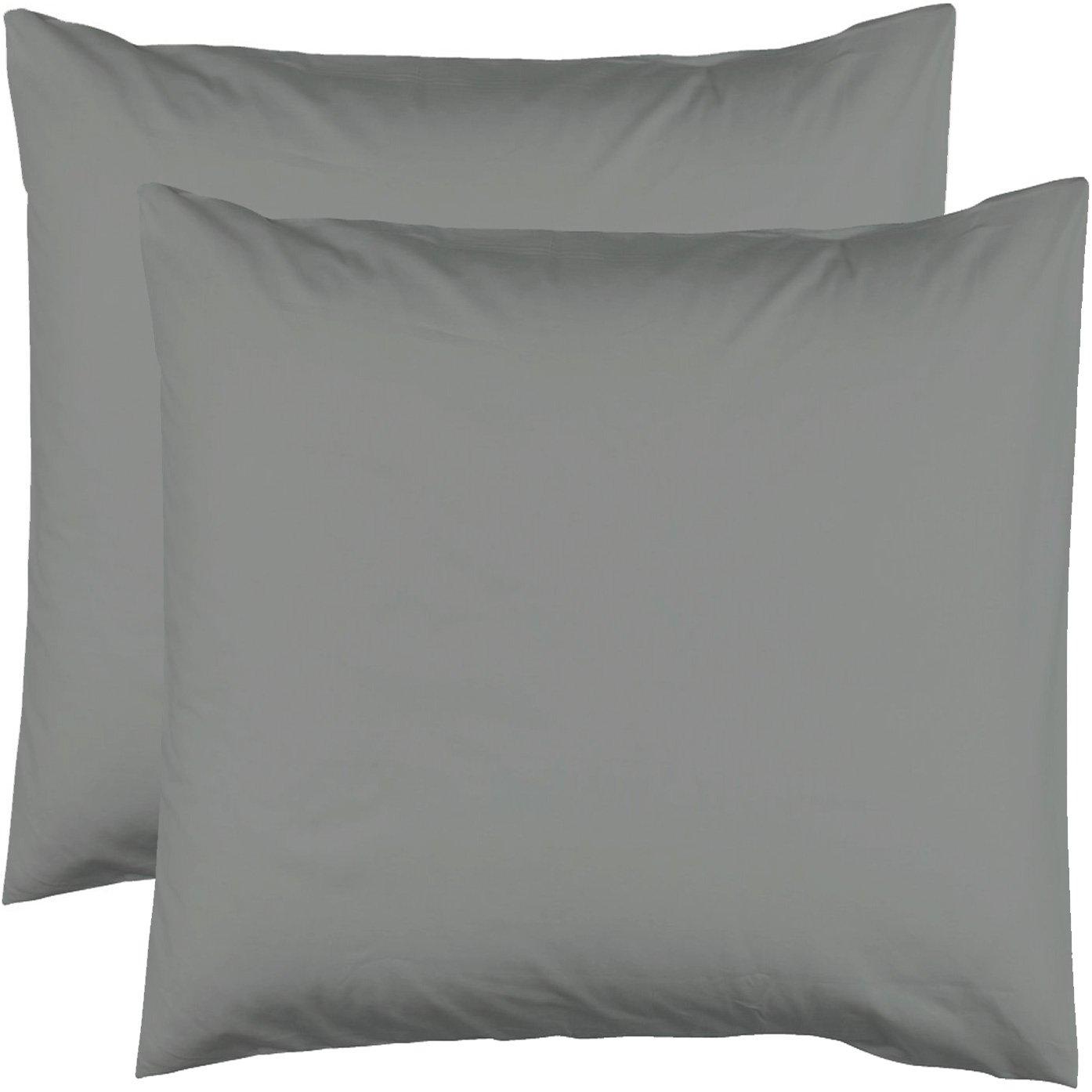 Le linge de Jules 2 Taies doreiller 63x63-100/% Coton 57 Fils Blanc