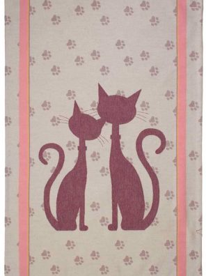 Lot de 2 Torchons Jacquard - Rouge